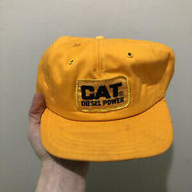 Vintage 70s 80s Cat Diesel Power Patch Snapback Trucker Hat Cap Photo