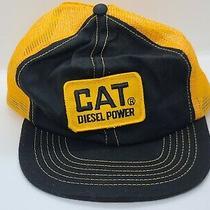 Vintage 70s 80s Swingster Cat Diesel Power Patch Snapback Trucker Hat Photo
