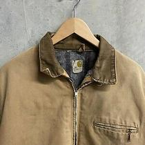 Vintage 70s Carhartt Jacket Detroit Blanket Lined Large Tan Sun Faded Distressed Photo