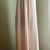Vintage 70s Christian Dior Lingerie Soft Pink Lace Trim Long Nightgown Gown Sz S Photo