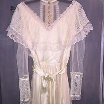 Vintage 70s Gunne Sax by Jessica of San Francisco Blush Wedding Gown - Size 9 Photo