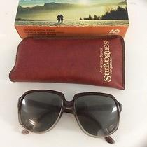 Vintage 70s Sunglasses A/o American Optical Sunvogues Sahara Cn 153t Grsm Photo