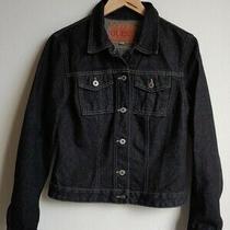 Vintage 80's 90's Guess Jeans Hipster Dark Denim Trucker Jean Jacket Sz Xl Usa Photo