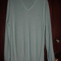 Vintage 80's Christian Dior Aqua Orlon Sweater Top W/ Logo Cd M L Photo