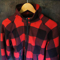 Vintage 80's Columbia Radial Sleeve Red Logger Flannel Fleece Hunting Jacket O17 Photo