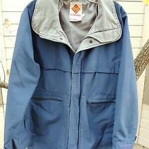 Vintage 80's Columbia Technicloth Coat. Men's Size Medium Women's Large Photo
