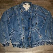 Vintage 80's Denim Guess Georges Marciano Distressed Jacket Jean Mens Size Small Photo