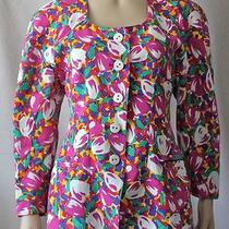 Vintage 80's Escada Margaretha Ley Bright Colorful Floral Tulip Jacket Size 40  Photo