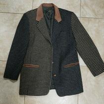 Vintage 80s Express Campagnie Internationale Brown Blazer Jacket Sz Large  Photo