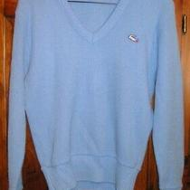 Vintage 80's Lacoste Haymaker Light Blue v-Neck Sweater Size 34 Ladies Womens Vg Photo