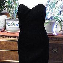Vintage 80's Rampage Black Velvet Mini Formal Evening Cocktail Dress 3 Photo