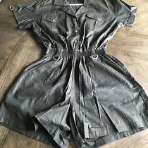 Vintage 80's View Point Gottex Black Romper Women's M Photo