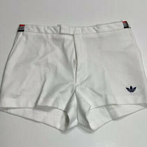 Vintage 80s Adidas Tennis Shorts Hanover Size 38 Trefoil Coach White New Photo
