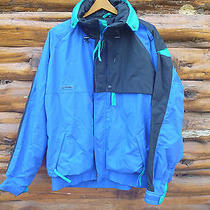 Vintage 80s Columbia Xl Radial Sleeve Nylon Blue Criterion Winter Jacket Hood Photo