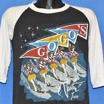 Vintage 80s Go-Go's Vacation Tour 1982 Raglan Black White Band T-Shirt Medium M Photo