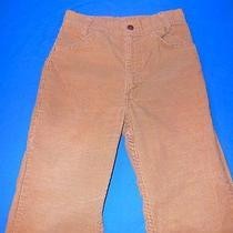 Vintage 80s Levis White Tab Brown Corduroy Boys Pants Sz 14 24 X 26 Photo