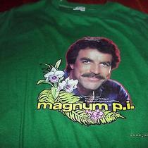 Vintage 80s Magnum P.i. Tom Selleck Iron on Television Show Ferrari T-Shirt S Photo