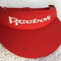 Vintage 80s Red Reebok Rare Retro Visor Hat Adjustable Back by Lg Photo