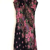 Vintage 90's Betsey Johnson Size Small Colorful Floral Romantic Boho Midi Dress Photo