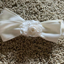 Vintage 90s Chanel Ivory Velvet Bow With Camilla Flower  Photo