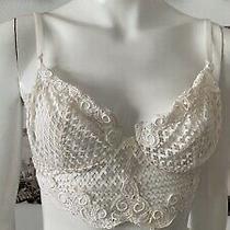 Vintage 90's Christian Dior White Mesh Bra Bralett Lingerie Sz 36 B Style 4911 Photo