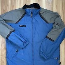 Vintage 90s Columbia Tribal Pattern Blue Jacket Zip Size Large  Photo
