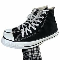 Vintage 90s Converse High Top Shoes Size 10.5 Black Made in Usa Photo