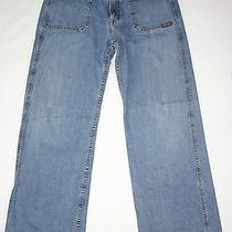 Vintage 90's Lucky Brand Wide Leg Skater Jeans M or 30x31.5 Grunge Usa Made 142 Photo