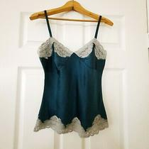 Vintage 90's Teal Express Lace Trim Camisole Top Photo