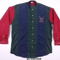 Vintage 90's Tommy Hilfiger Colorblock Big Logo Crew Neck Shirt Polo Rap 28470 Photo
