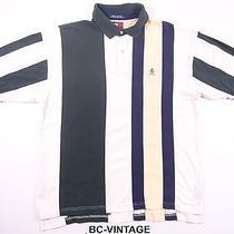 Vintage 90's Tommy Hilfiger Wide Stripe Polo Shirt Hip Hip Rap Wu Tang 28856 Photo