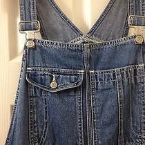 Vintage 90's Women's Gap Denim Bibs Overalls Blue Jeans Sz Large L Grunge Photo
