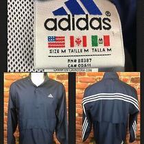 Vintage 90s Adidas Navy Golf Wind Shirt Track Jacket Shirt Medium (323) Photo