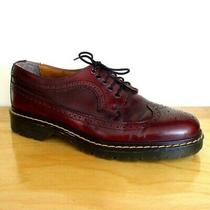 Vintage 90s Aldo Mens Oxblood Leather Wingtip Brogue Loafer Sz 10 Made in Italy Photo