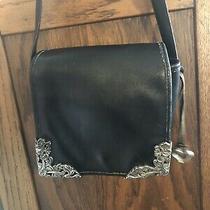 Vintage 90s Black Leather Brighton Crossbody Bag Purse Shoulder Bag Photo