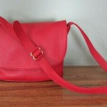 Vintage 90s Coach Sonoma Flap Bag Crossbody Purse - Pebbled Red Leather 4903 Photo