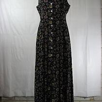 Vintage 90s Express Sz 9/10 Floral Rayon Dress Photo
