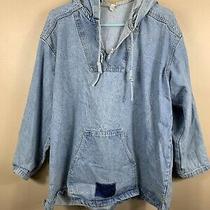 Vintage 90s Gap Anorak Jean Denim Pullover Jacket Hoodie Sweatshirt Size Medium Photo