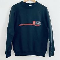 Vintage 90s Grunge Airborne Express Dhl Solid Black Raglan Sweatshirt Large L Photo