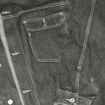 Vintage 90s Guess Denim Trucker Jacket Workwear Oversized Hip Hop Black Sz Xl Photo