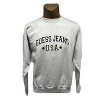 Vintage 90s Guess Jeans Usa Size L White Crew Neck Unisex Sweatshirt Photo
