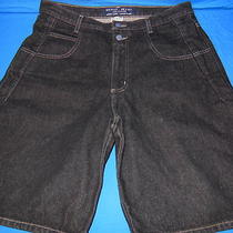Vintage 90s Guess Usa Black Baggy Men's Hip Hop Cotton Denim Jean Shorts 34  Photo