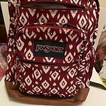 Vintage 90s Jansport Leather Bottom Backpack Blue Nylon Made in Usa  Photo