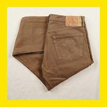 Vintage 90s Levi's 501 Jeans 3834 (37 Irl) Usa Brown/sand Button-Fly (1625) Photo