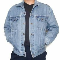 Vintage 90s Levis Light Blue Denim Trucker Jacket Made in Usa Fits M/l Photo