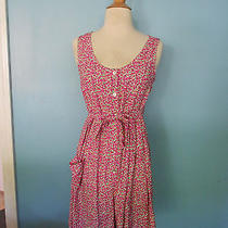 Vintage 90s Liberty Cherry Print Romper Dress Bike Riding / Size Xs-Small Photo