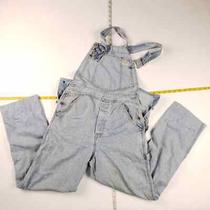 Vintage 90s Made in Usa Guess Usa Light Blue Denim Overalls Mens Sz S Photo