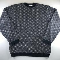 Vintage 90s Mens Giorgio Armani Le Collezioni Cotton Sweater Size Large Rare Photo