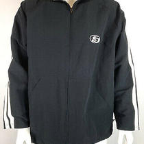 Vintage 90s Mens Surf Style Windbreaker Coach Jacket Stripes Black Size L/xl Photo