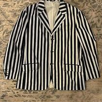 Vintage 90s Moschino Cheap and Chic B/w Striped Blazer Sz L / Xl Unisex Italy Photo
